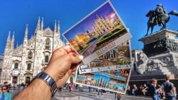 Открытка Милан Италия Duomo Italy Milano Postcard
