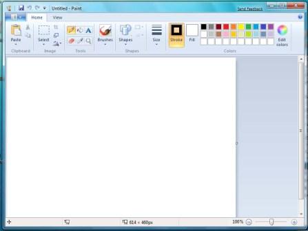 شکل و شمایل جدید Paint در ویندوز 7