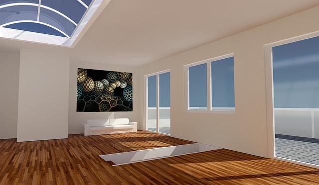 striking artwork on a blank wall