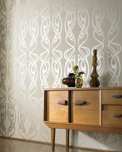 patterned cream wallpaper