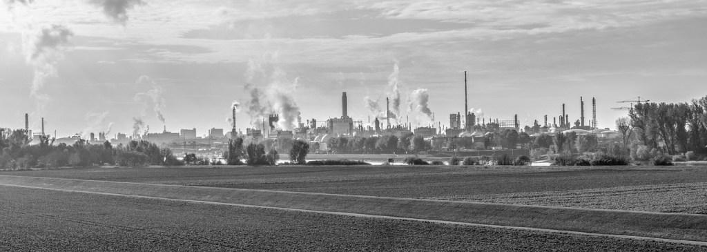 a high pollution area