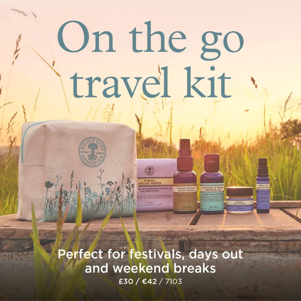 neals yard on the go travel kit with bag