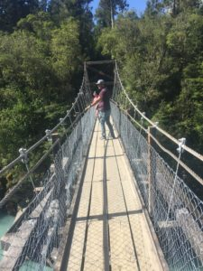 on the bridge over hokitika gorge