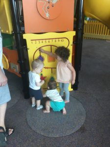 kids playing in the play area