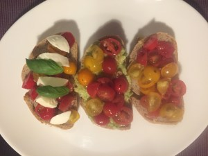 3 bruschetta options