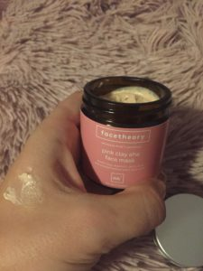 Face Theory pink clay AHA mask