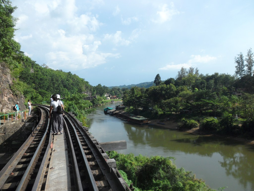 walking the bridge over river kwai