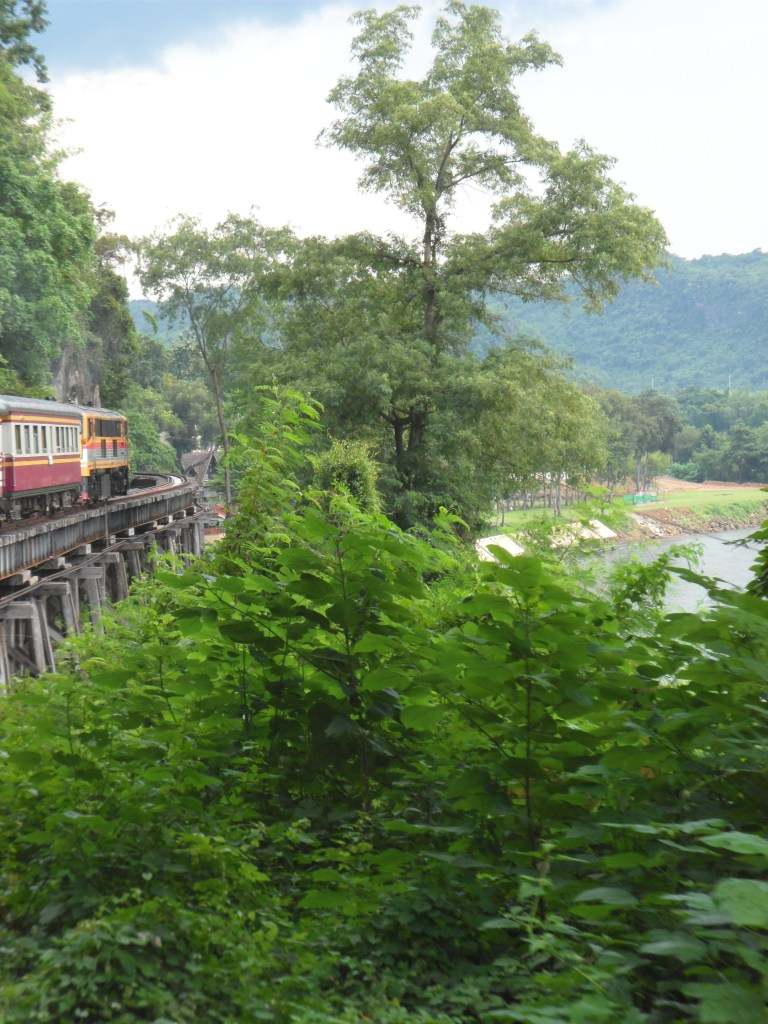 Train along the death railway on river Kwai