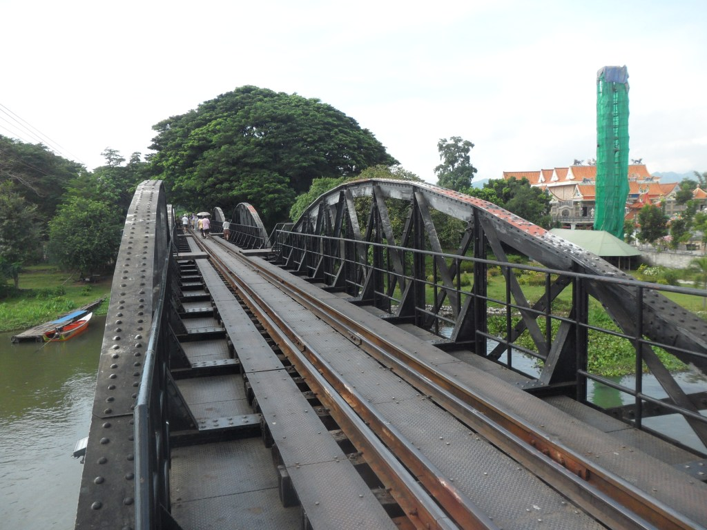 The bridge over river Kwai as we cross on foot