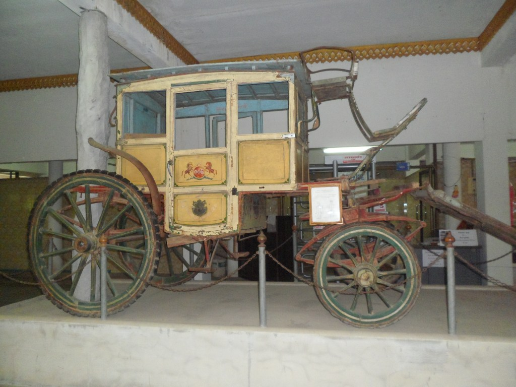 Old carriage from death railway museum