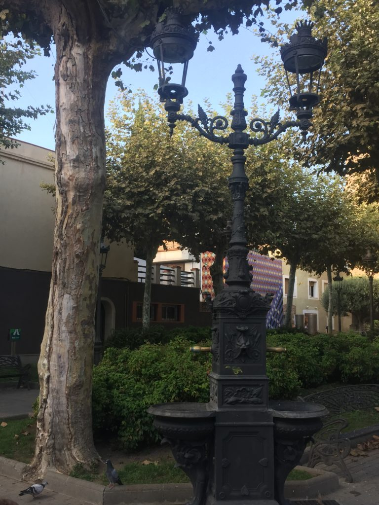 Old cast iron lamp post at Malgrat town