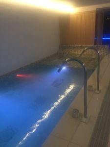 Spa at Europa hotel lit up