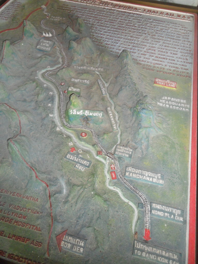 Map of the death railway