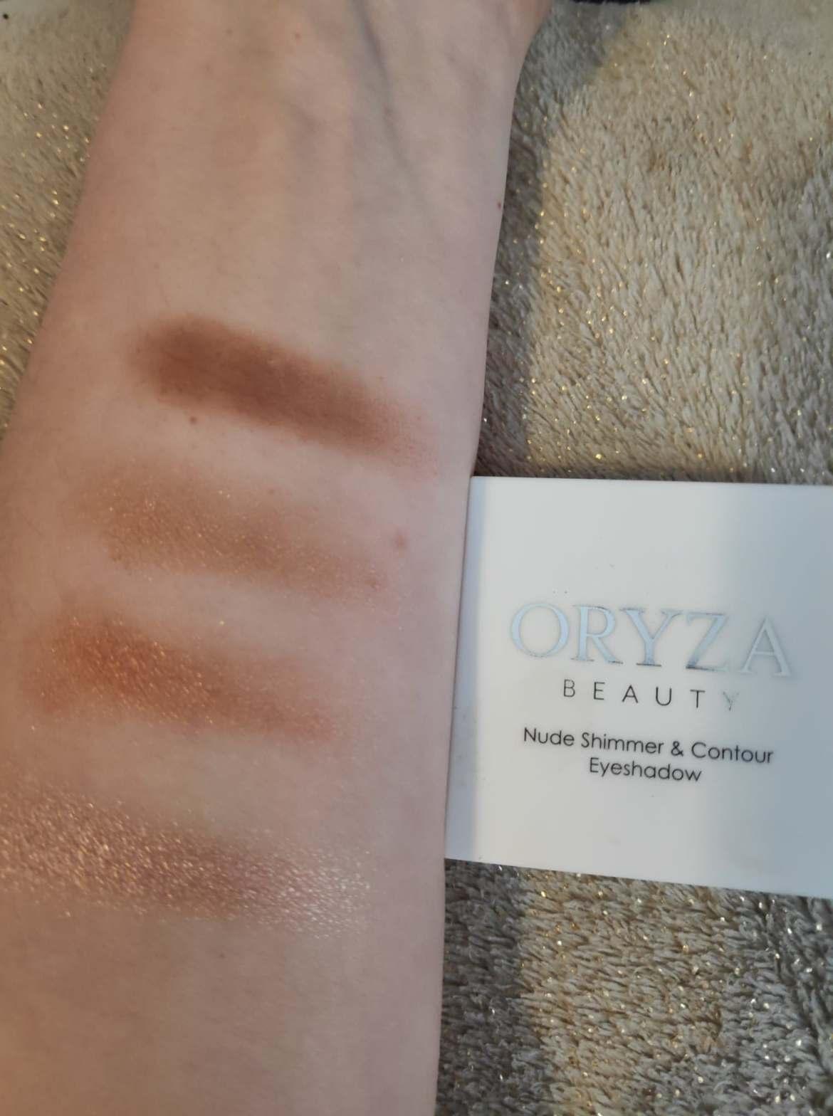Oryza Eyeshadow swatches on arm