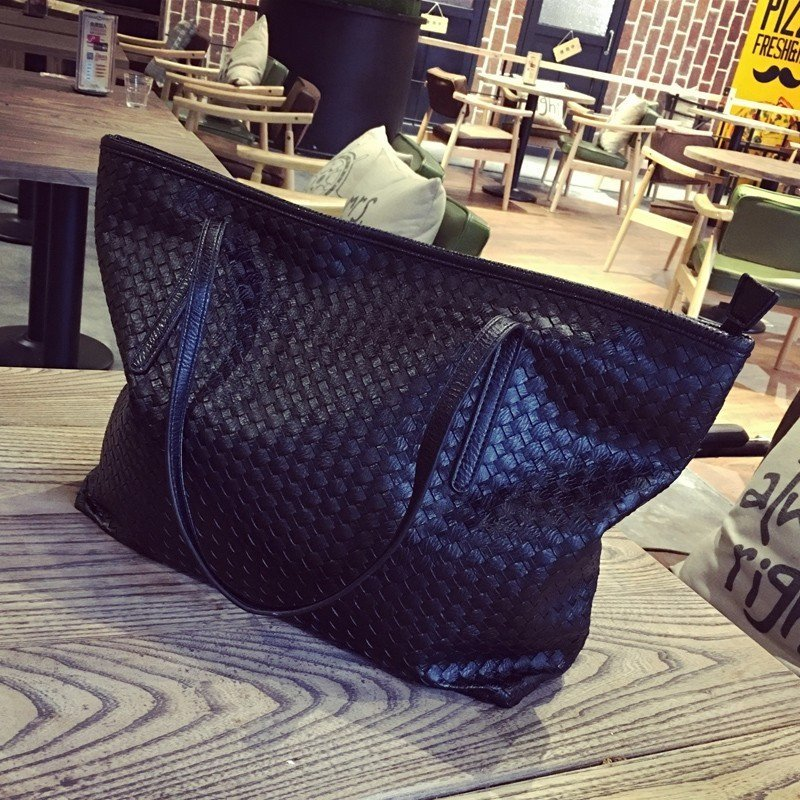 Women's Black Big Tote Bag