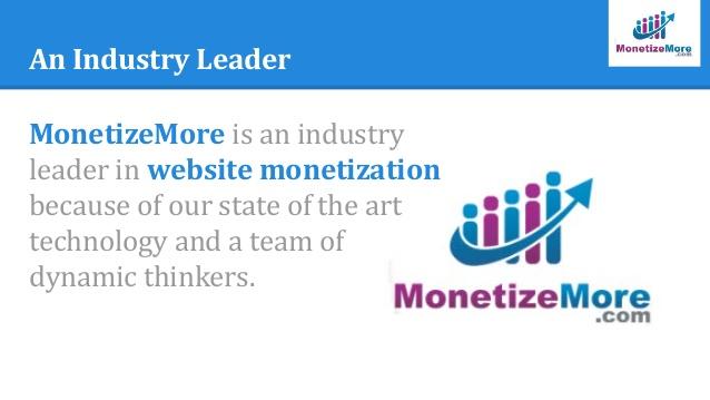 MonetizeMore Review 2017- Increase Ad Revenue