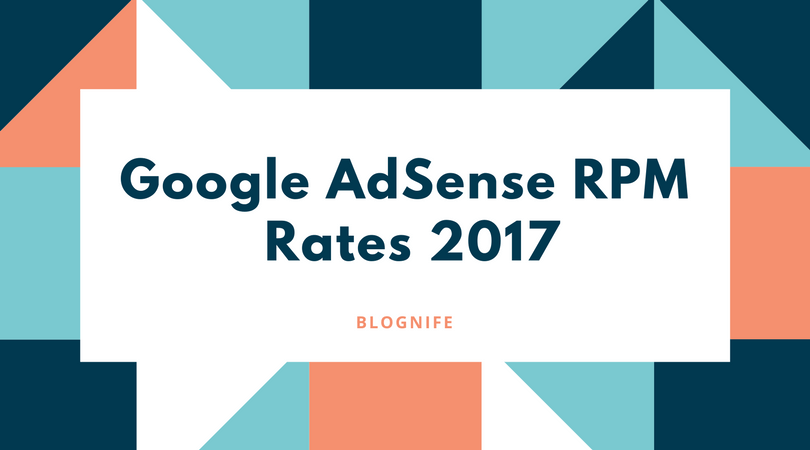 Google AdSense CPM Rates 2018