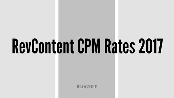 RevContent CPM Rates 2019