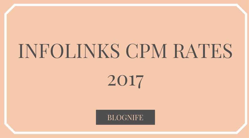 Infolinks CPM Rates 2019
