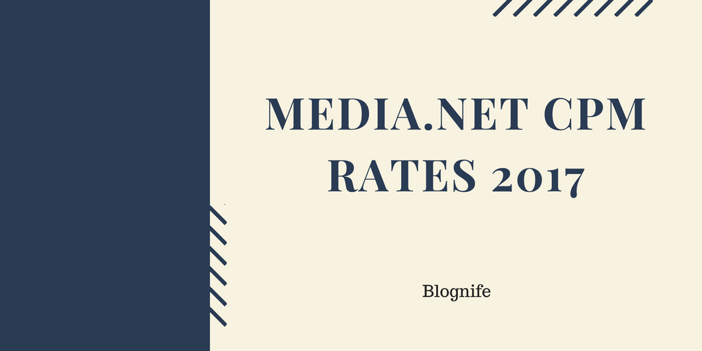 Media.net CPM Rates 2018