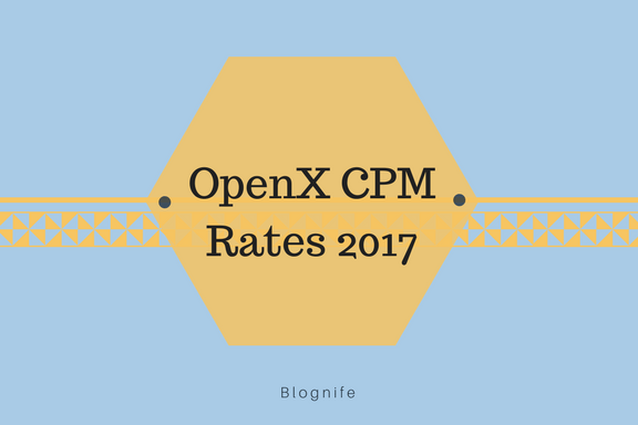 OpenX CPM Rates 2017