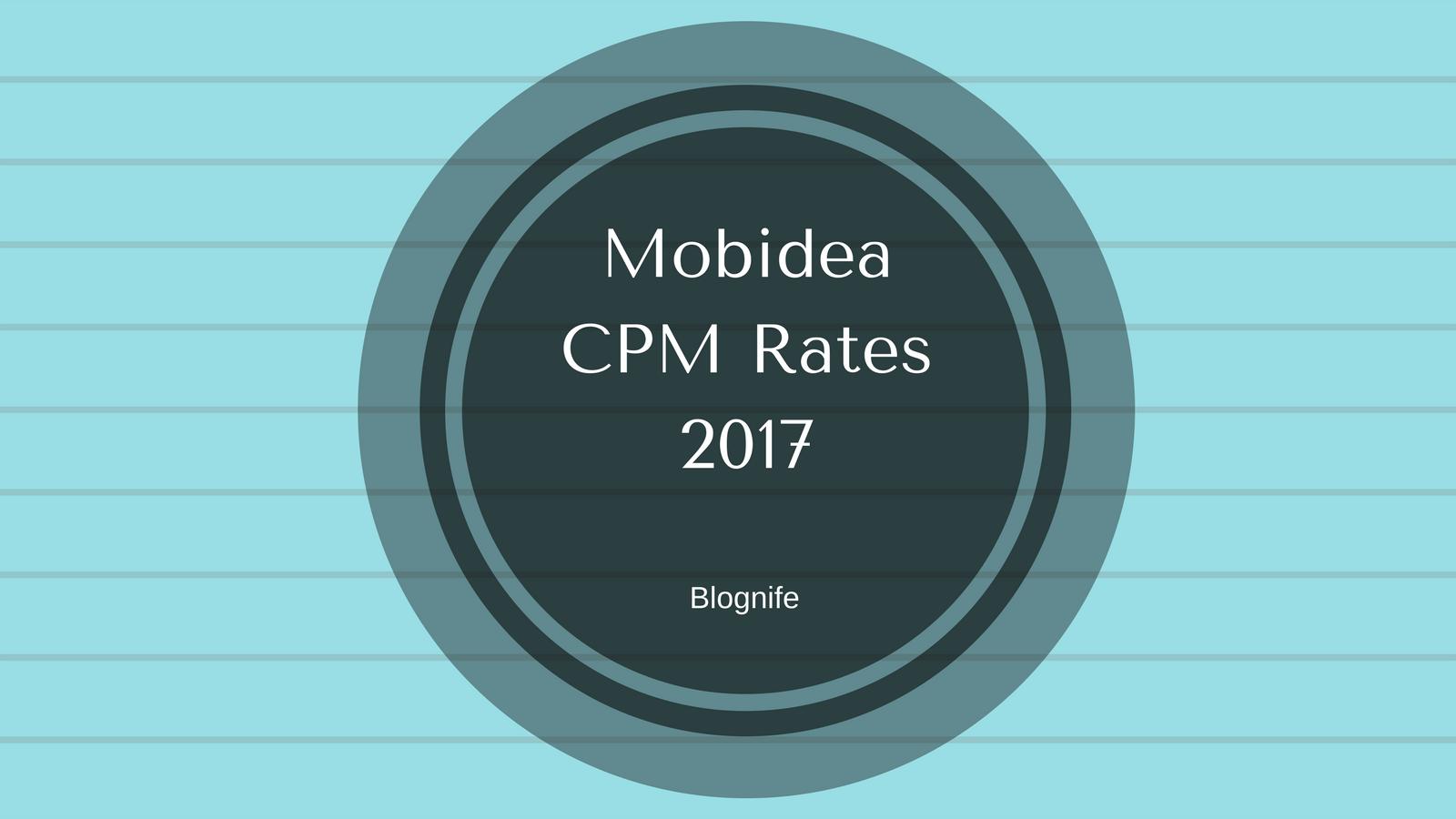 Mobidea CPM Rates 2019