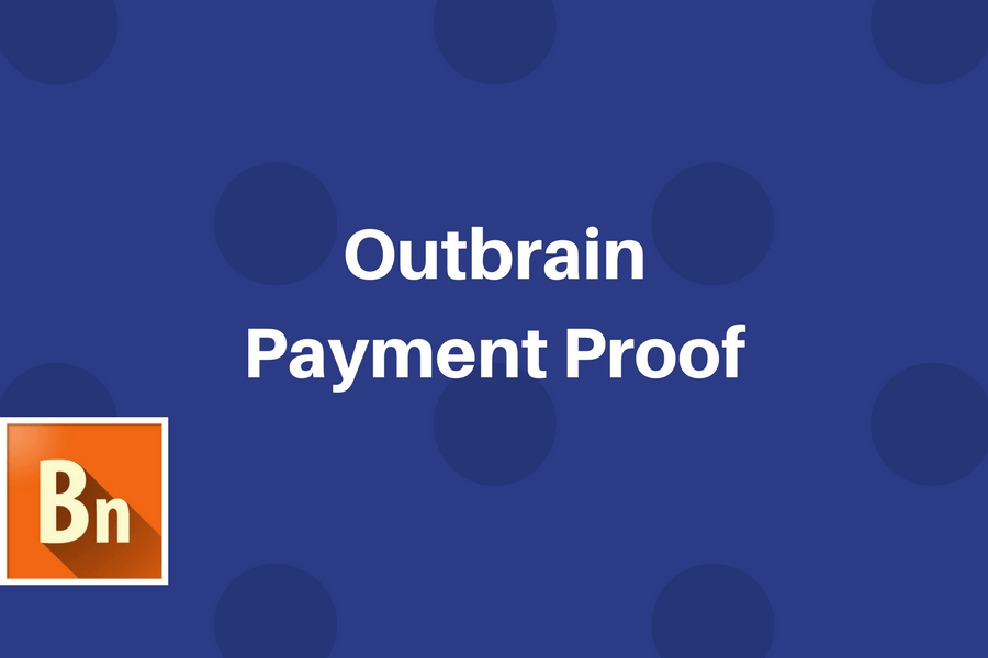 Outbrain Payment Proof for Publishers 2020