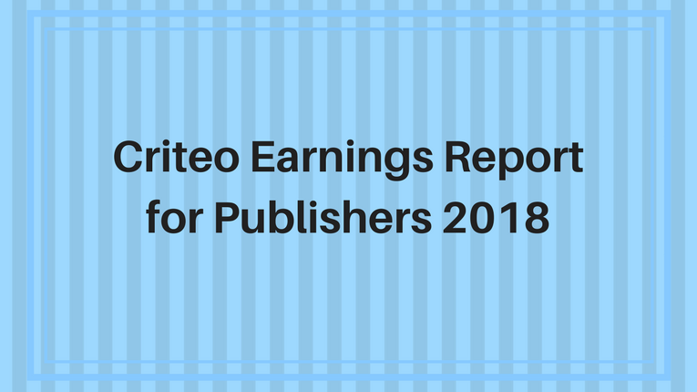 Criteo Earnings Report 2018