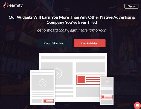 Earnify Review 2018- Native Ad Network for Publishers