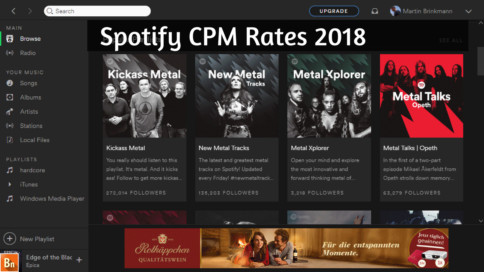 Spotify CPM Rates 2019