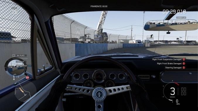 crash Forza 6 Apex mustang cockpit