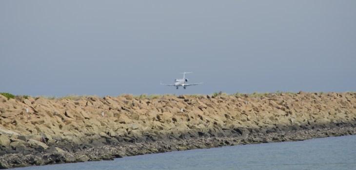 Plane landing runway