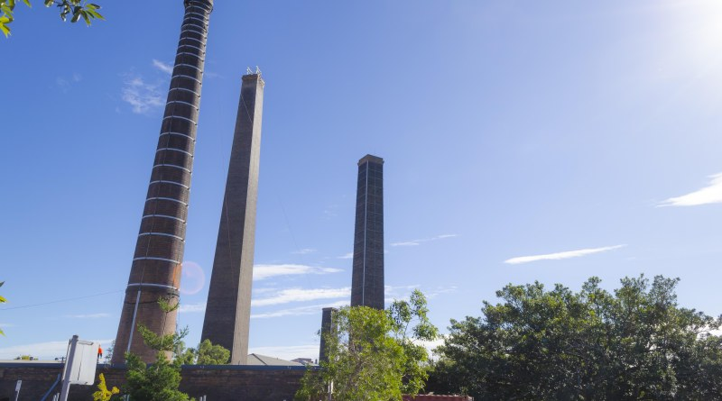 Sydney Park, chimneys, smoke stacks,