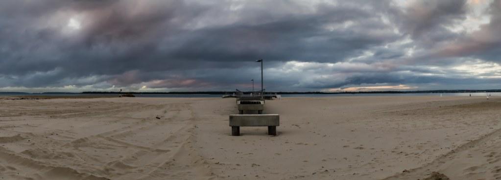 Dolls Point Pier, sunrise, pre-dawn, beach, Botany Bay, Sydney, Australia,