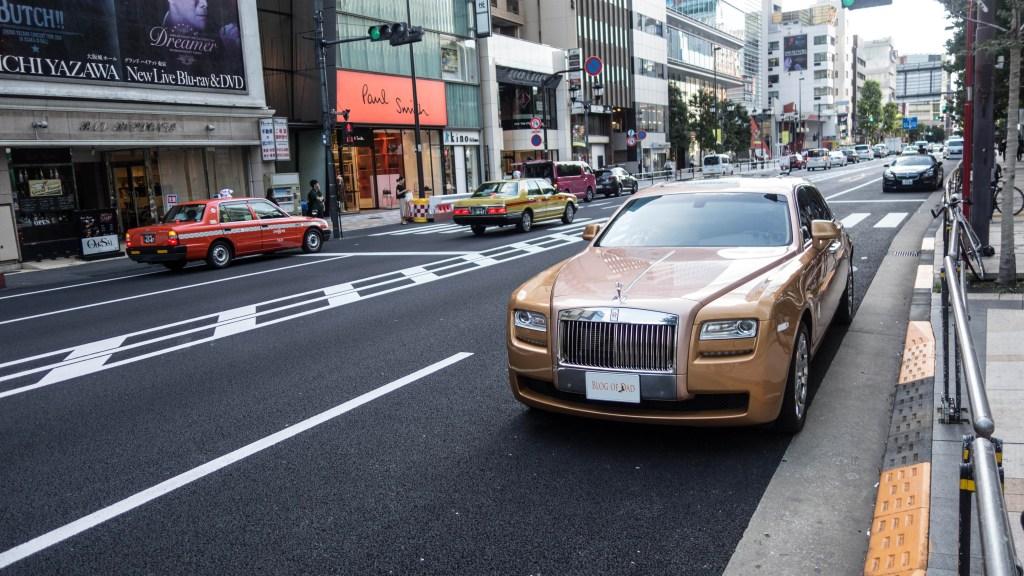car, Gold Rolls Royce