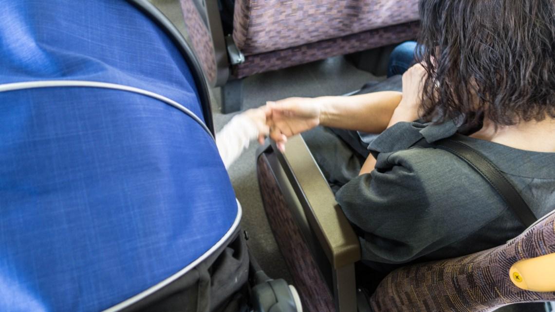 Stroller on train