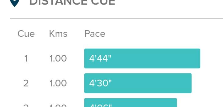 Three kilometre run Fitbit Blaze