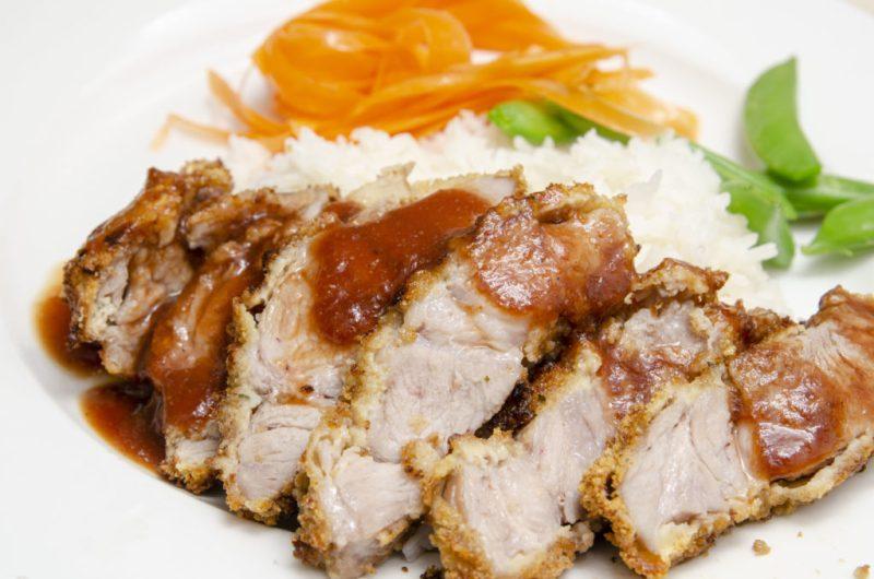 Air Fried Pork Katsu with Tonkatsu Sauce