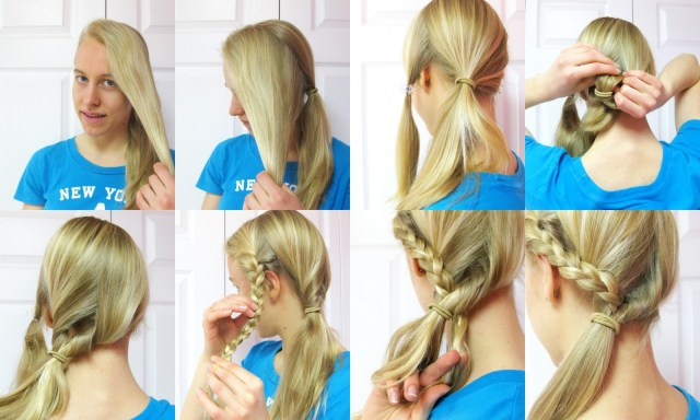 hairstyle tutorial: side ponytail with a braid | blog of joy
