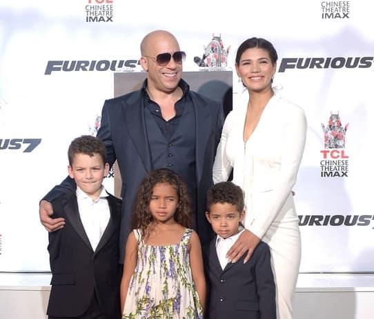 Paloma Jiménez Vin Diesel and Children