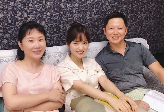 Shen and her Parents