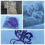 Schablonierfolie & Textilfarbe – Wie das funkelt… ♥