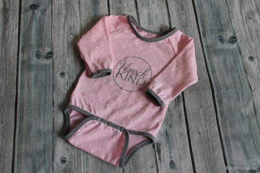Baby Body für ein Mädchen nähen, Bandeinfasser, Bügelbild Neugeborenes