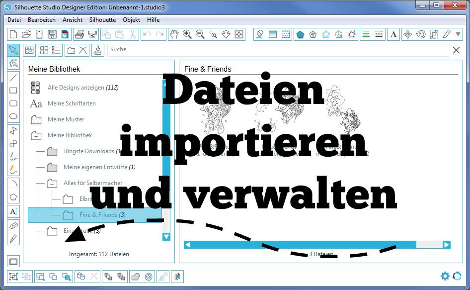 Plotter-Anleitung] - Dateien importieren und verwalten. (Silhouette ...