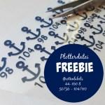 Plotter Freebie: Maritime Größenlabels