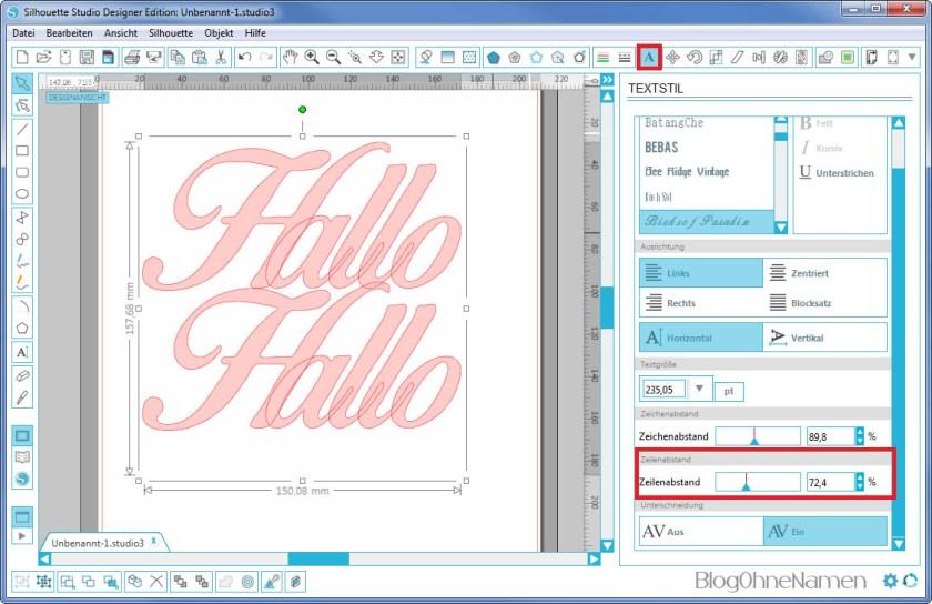 Plotter - Schriftarten - Wie man Buchstaben auseinander schiebt (4)