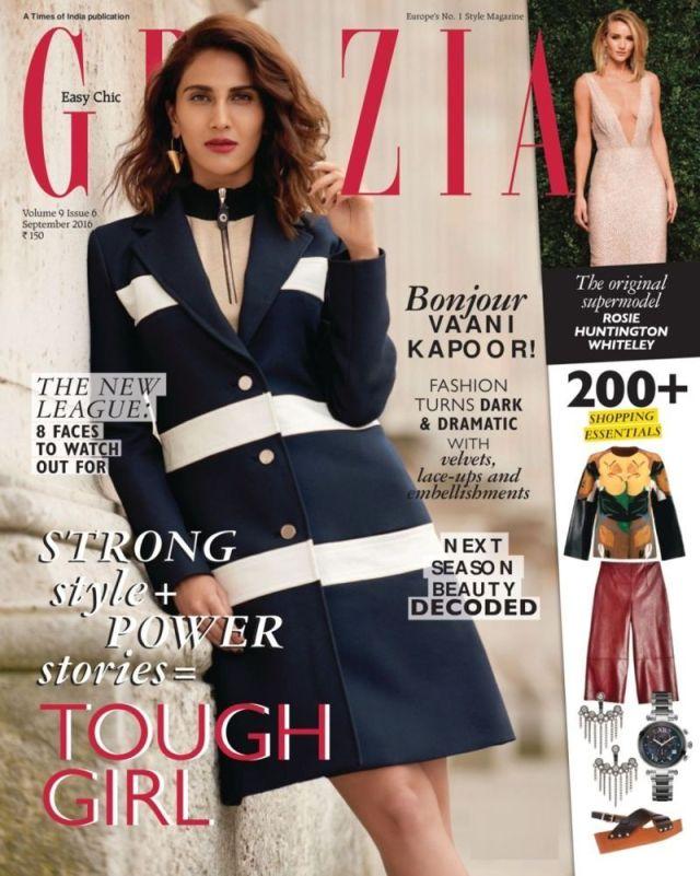 Vaani Kapoor on Grazia Magazine 2016 Cover