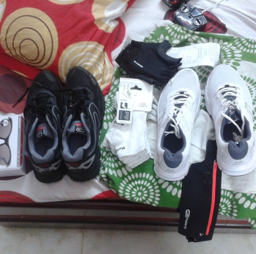 I bought all this from Decathlon Noida. I ran in the black one. Super comfy!