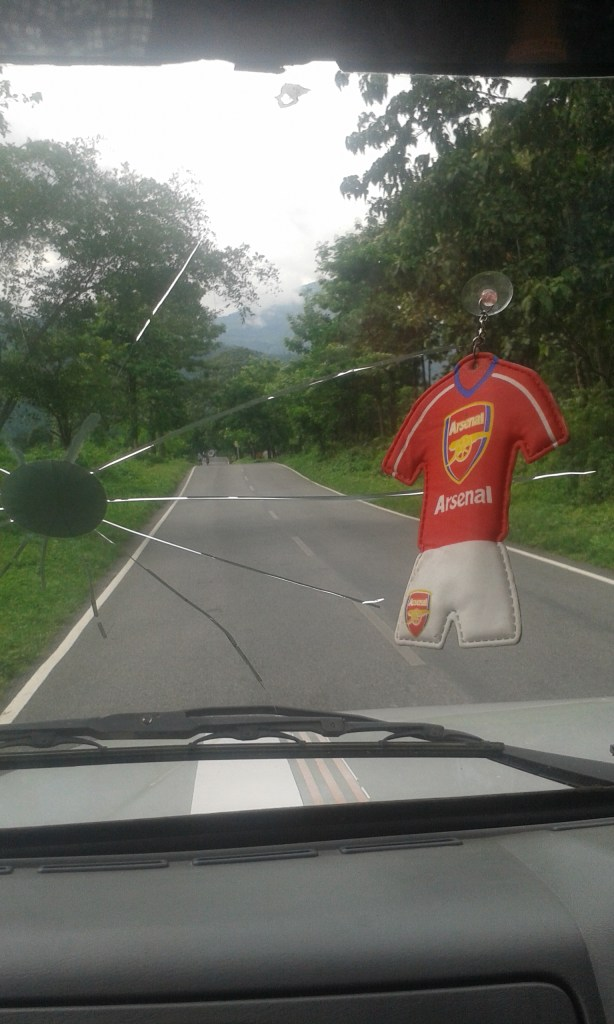 The driver seemed to be a Arsenal fan!