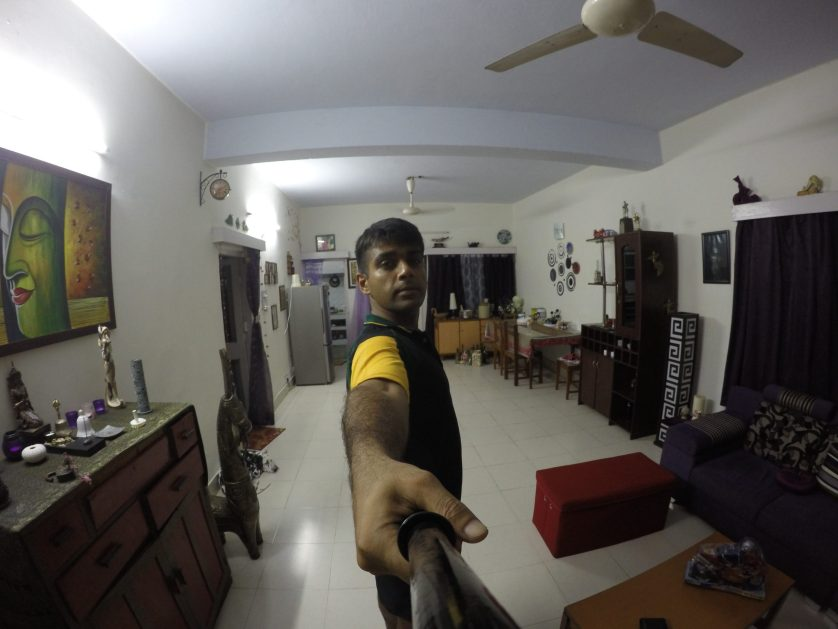 First shot using the selfie stick.